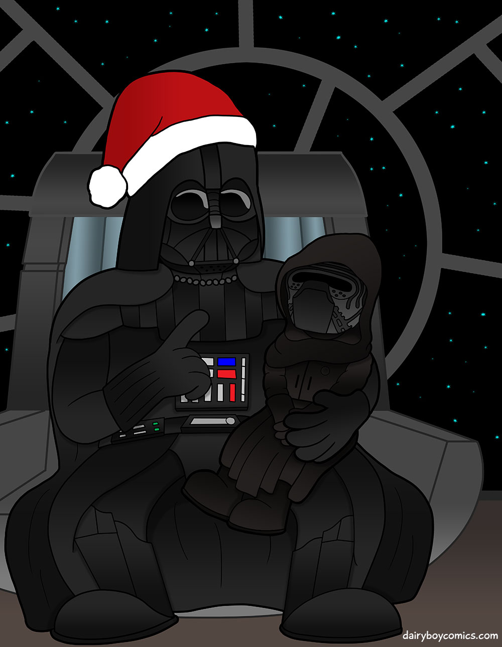 'Have you been evil this year?' 'Yes Vader! Very evil.'